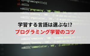 現役エンジニアが「初心者は学ぶプログラミング言語を気にするな」と語る理由とは